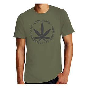 high sierra june lake T-shirts - back